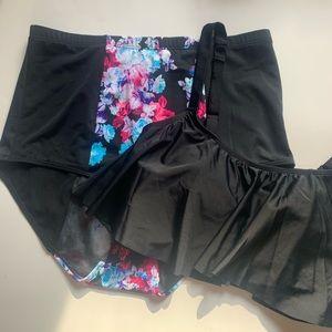 Torrid Bikini Set Black Floral